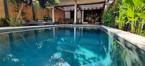 3 Angels family villa with private pool Gili Air