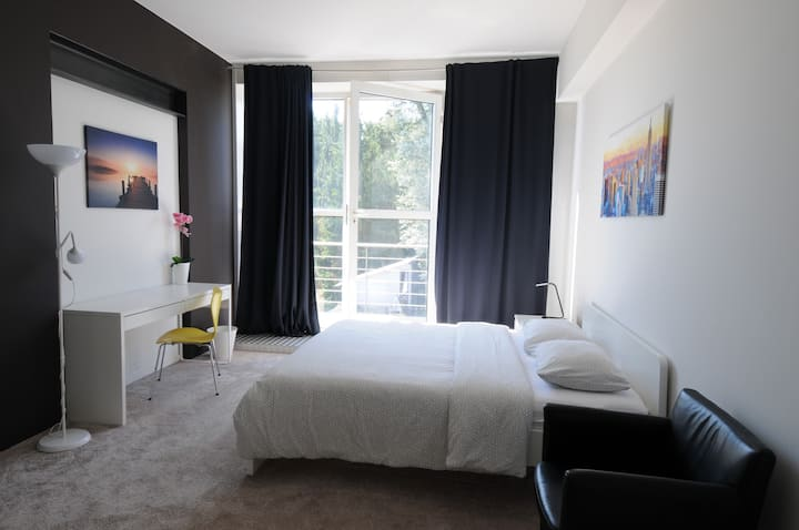 Sunny Room w/private Balcony close to Esch/Belval