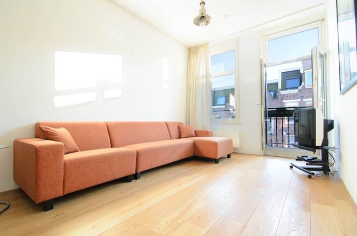 Very Bright & Spacious Apt +4Bikes - Amsterdam - Appartement