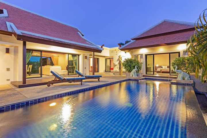 奈函沙滩的豪华泳池别墅, Baan Bua