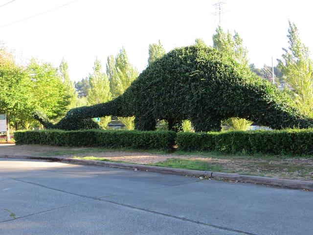 Dinosaur Topiary.