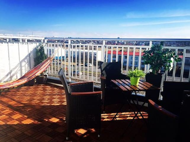 Great double room w/private balcony - Reykjavik
