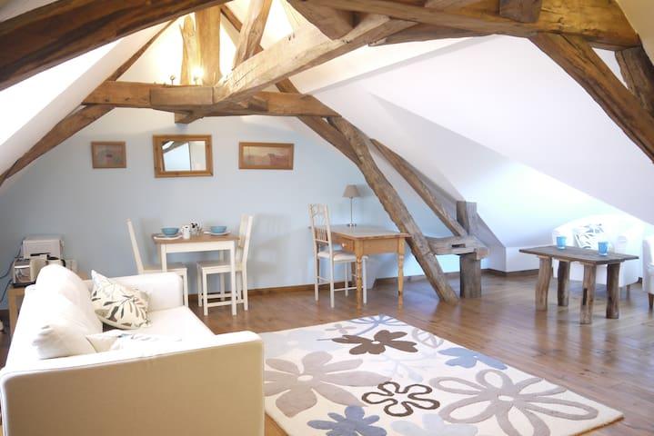 Grenier charmant dans une maison ancienne