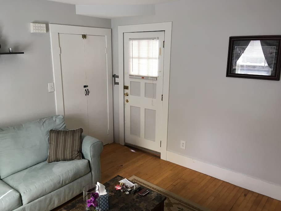 Front door entrance and closet!
