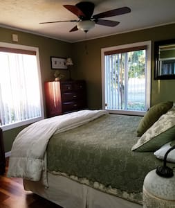 Private master bedroom at B & K Farm House - Hillsboro
