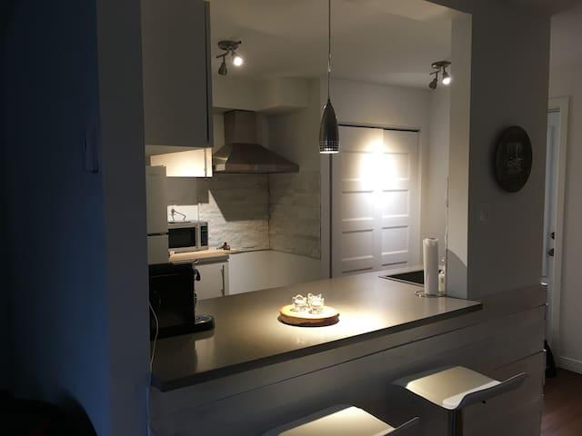 Magnifique studio, entièrement rénové, près du MSA - Beaupré - Appartement