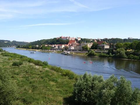 Ferienwohnung am Elberadweg in Pirna
