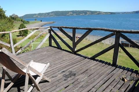 Chiloe, cabaña El Palafito