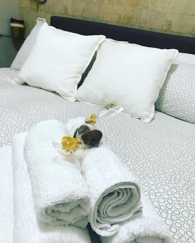 Doppia silenziosa e bagno in camera