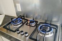 Gas stove top. (No oven).