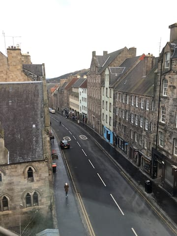 View down The Royal Mile, from the room