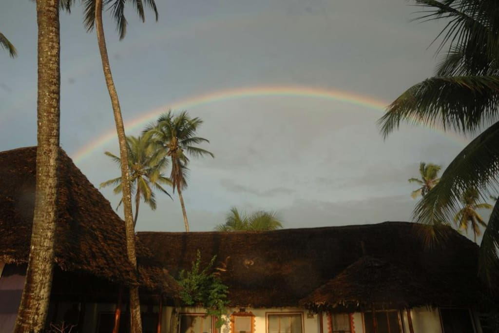 Over the rainbow at Simba Beach...