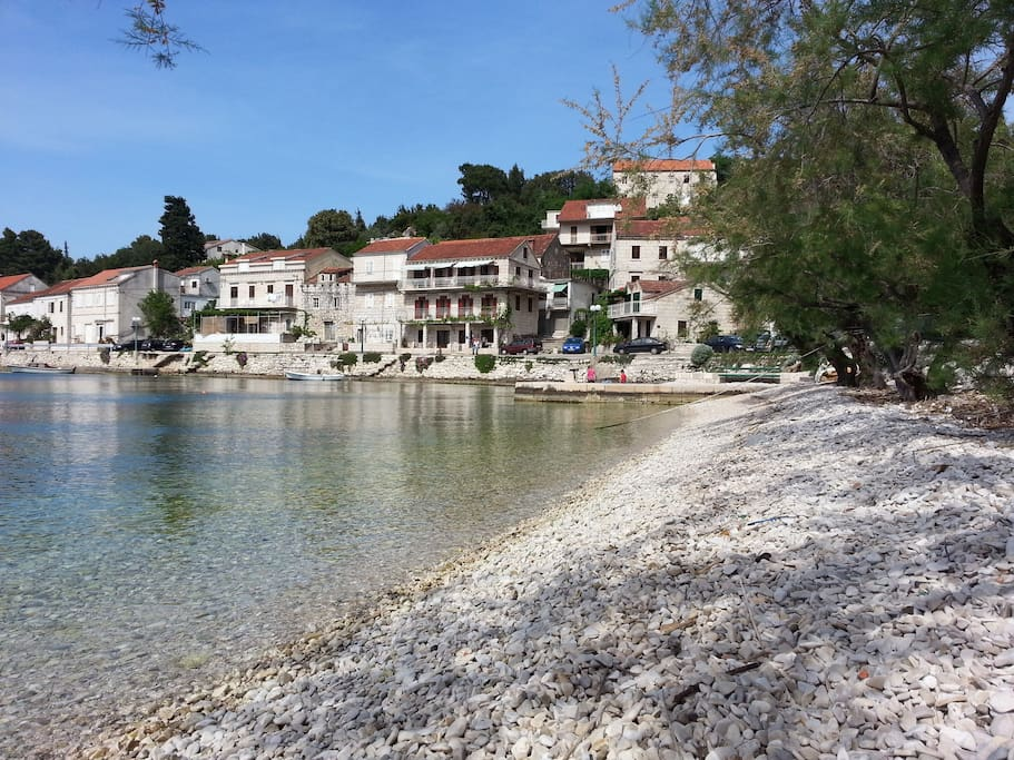 Tatic Beach with view to Villa Gorana