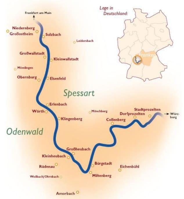 Lageplan von Miltenberg