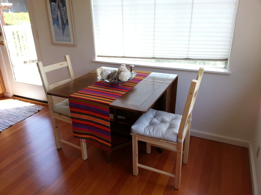 Dining area with gate-legged table
