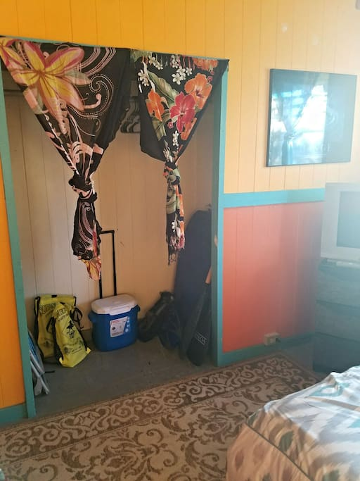 Large closet with beach gear for your use