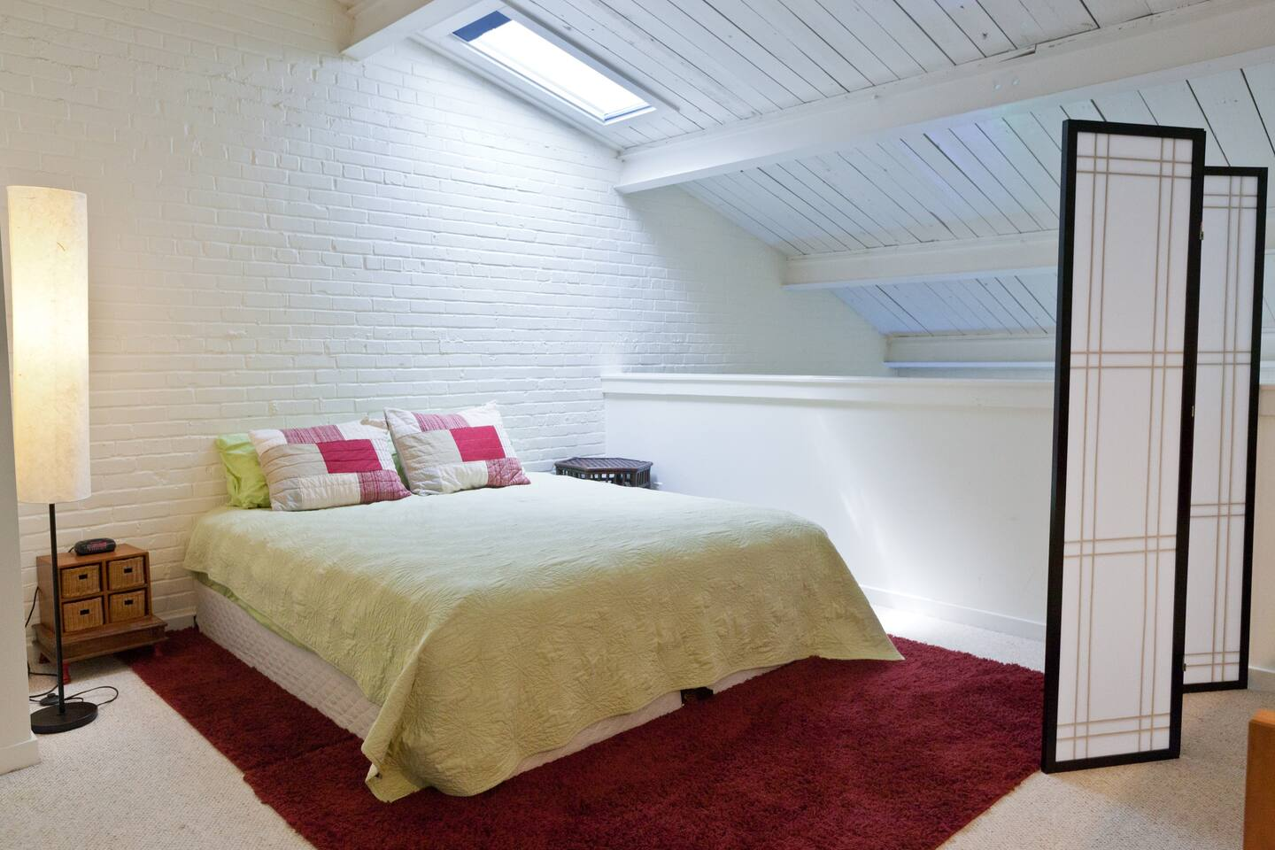 Pillowtop King Sized Bed in upstairs loft