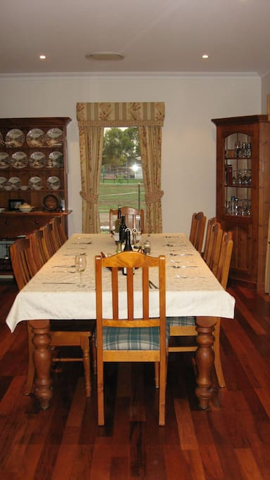 Enjoy your breakfast in the dining room at a time convenient to yourselves