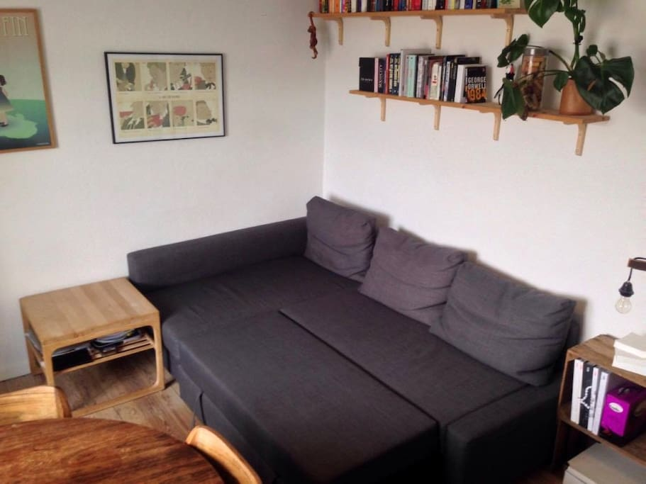 Sofa bed unfolded