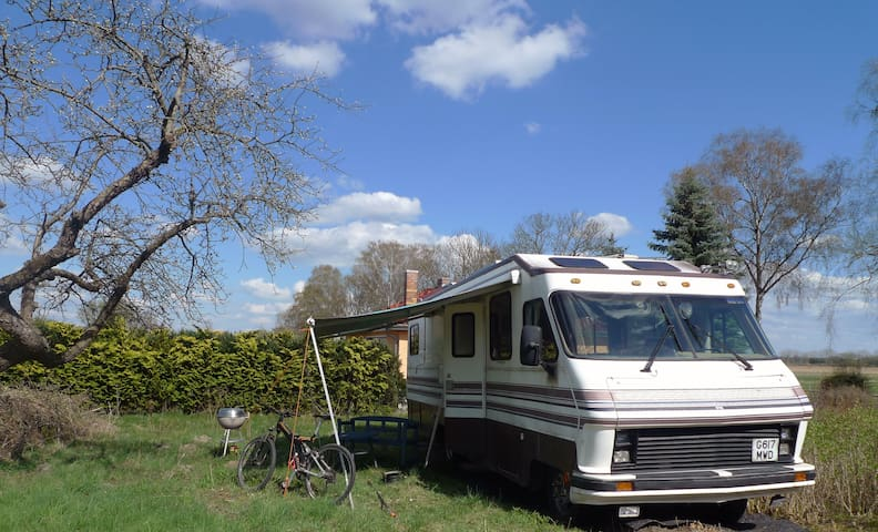 American Motorhome in Countryside