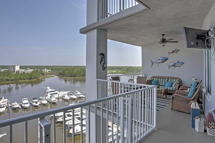 Orange Beach Resort Condo w/ Scenic Marina Views!
