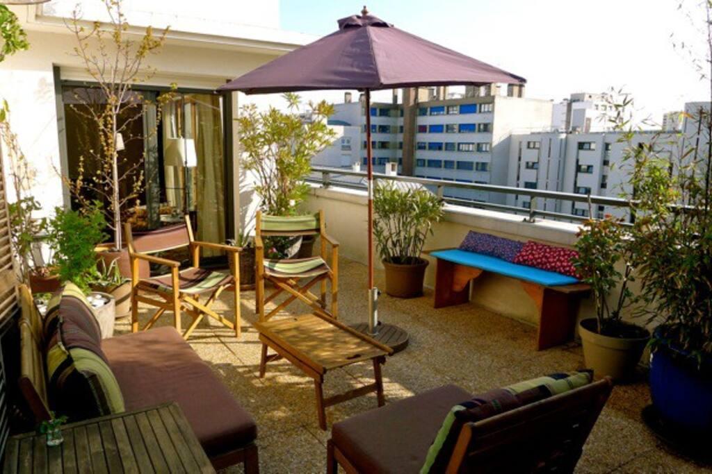 Apt avec terrasse aménagée de 60 m2 Apartamentos en