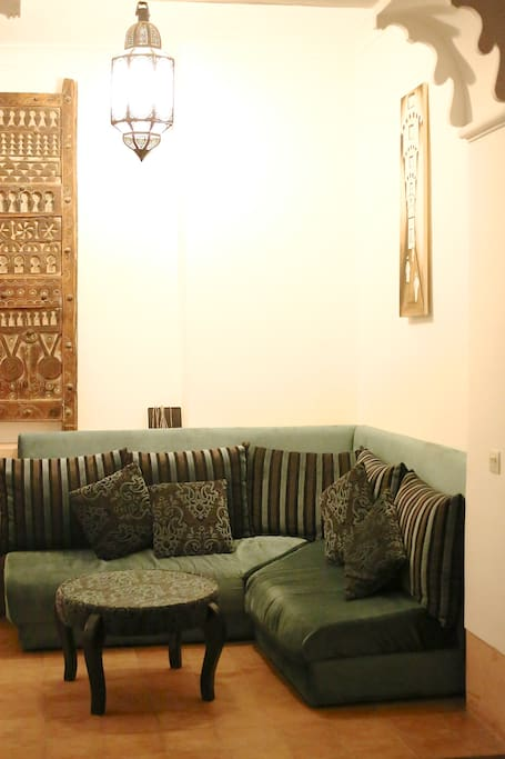 Reception area seating with WiFi access