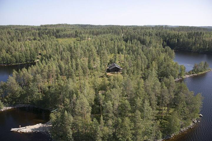 Katajanokka log cabin for 8 direct on Saimaalake