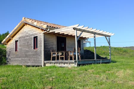 Wooden house wonderful view Ardèche - Saint-Jean-le-Centenier - บ้าน