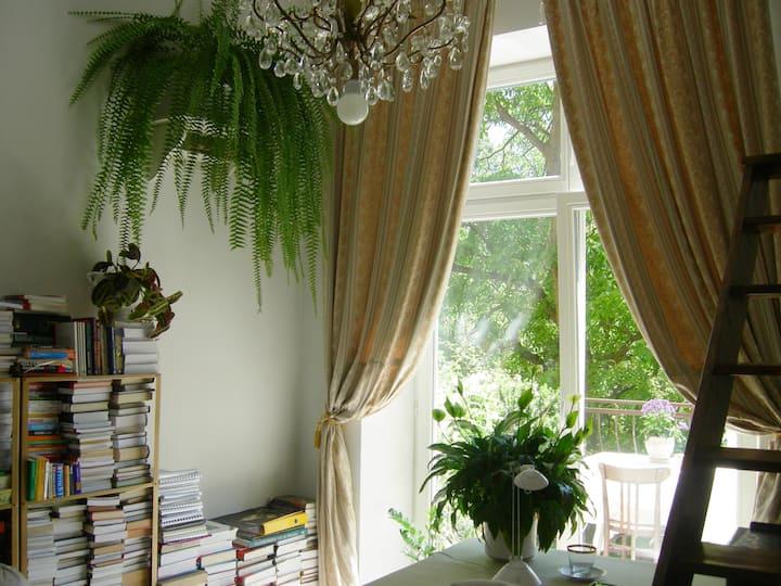 Sunny room with balcony
