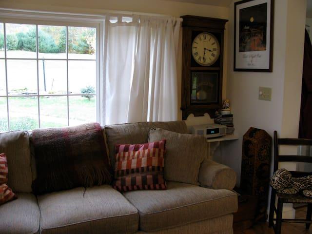 Corner of living room.