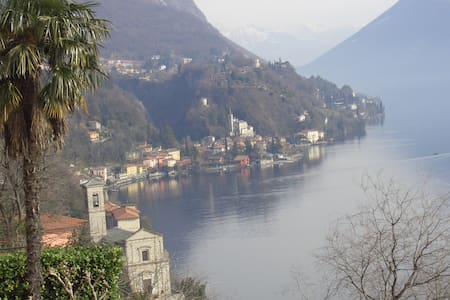 Apartment with lake view in Valsolda - Lugano Lake