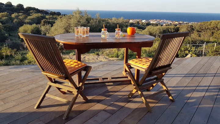Annexe Villa Casa MAY avec vue mer et piscine