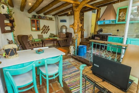 Room in a unique natural home-Earthship-Istria