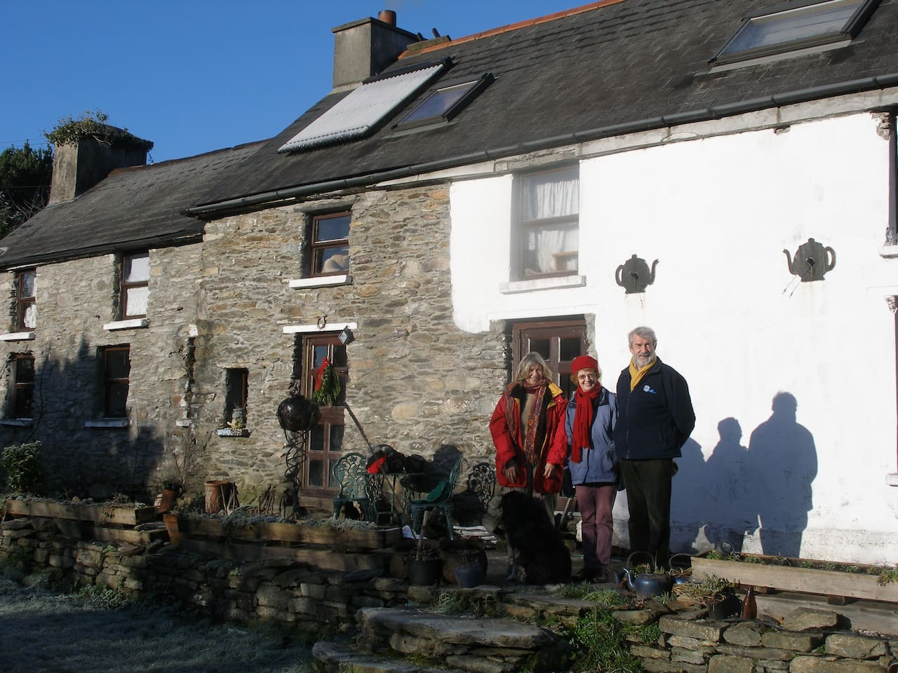 Guests preparing for a walk in the sunshine, January 2010