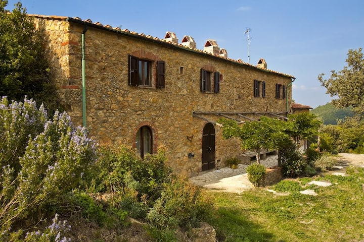 Apartment 4p Tuscany near Volterra