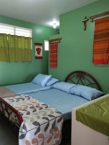 Bedroom 1  may be rented at P1,500 per night.  With a private comfort room - shower, toilet, sink.  Other bedrooms will be locked.