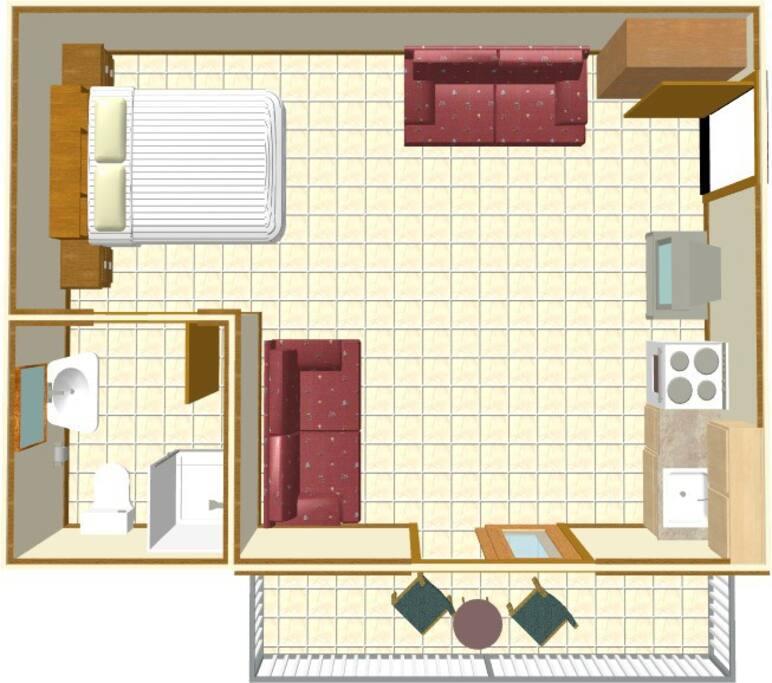 ground plan Apartamentstudio 3.floor