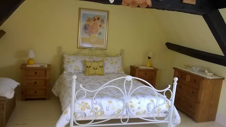 Beautiful Beamed Double Bedroom