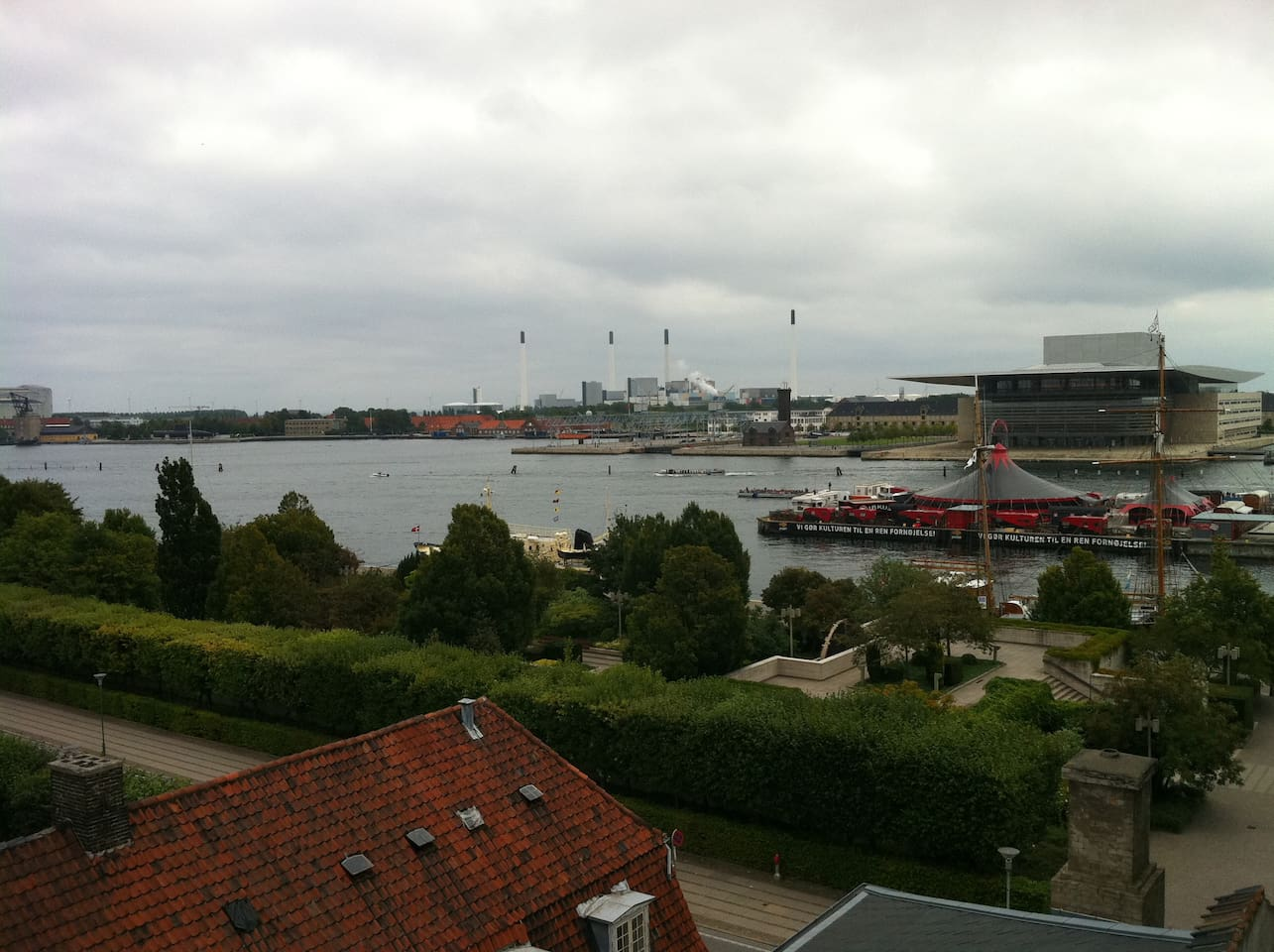View of the harbor with the Opera house in the background on the right.