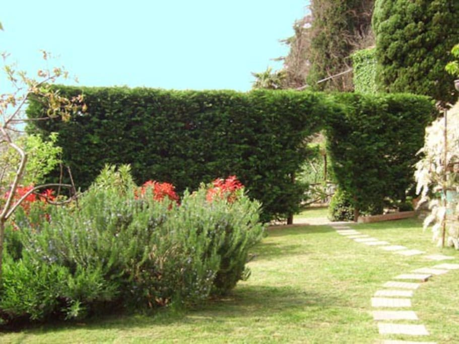Part of the extensive and beautiful garden