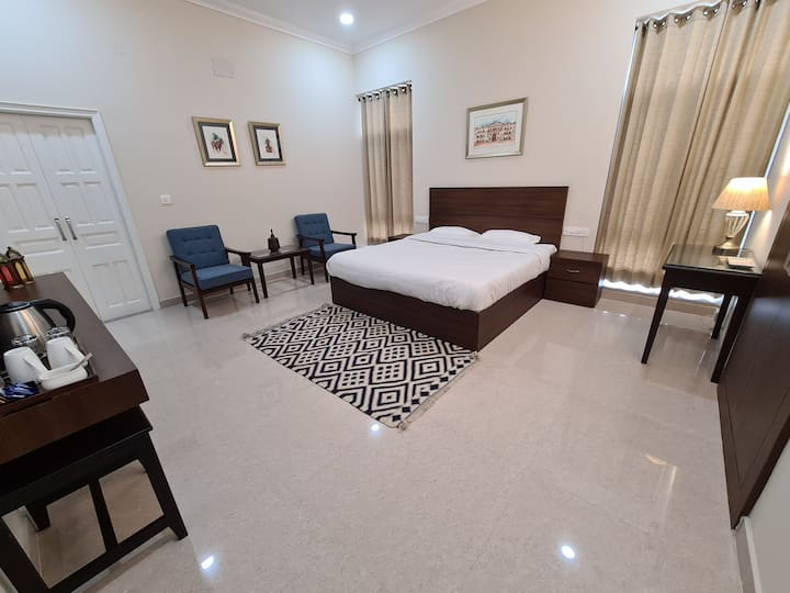 300 sq foot premium room, with luxury amenities.