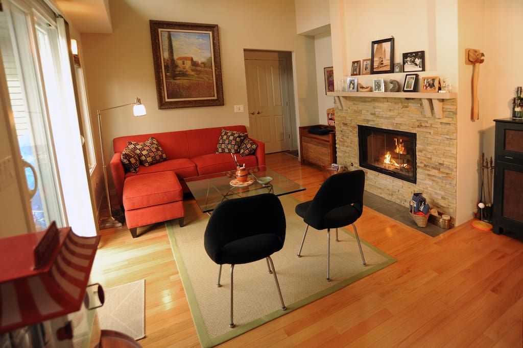The hearth room, very cozy, nice for conversation and hanging out.
