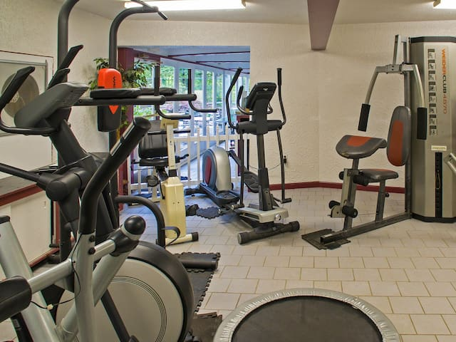 Start your day with a morning workout in the on-site gym.