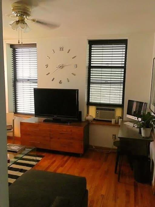 Living room. (Netflix!)