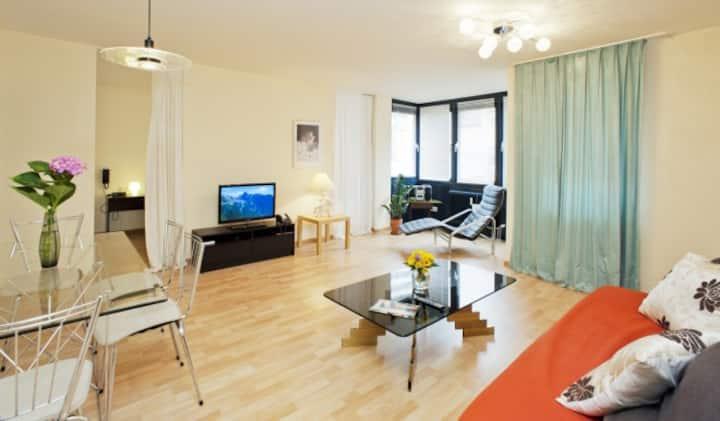 STADT-Hotel, (Lörrach), Apartment, 45qm, 1 Schlafraum, maximal 4 Personen
