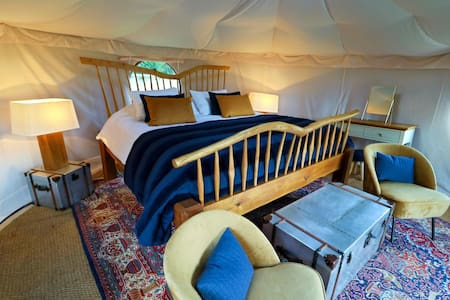 Luxury Yurt Glamping with 6 Acres & Swimming Lake