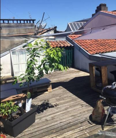 Chambre chez l'habitant (côté rue) - Bayonne - Bed & Breakfast