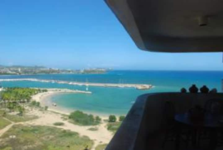 Beautiful Margarita over the sea