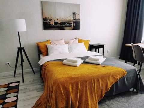 Новая, уютная квартира рядом с центром города